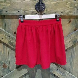 Tobi Red Mini Skirt